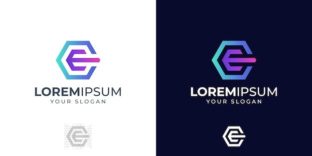 Inspiração para o design do logotipo das letras c e e do monograma