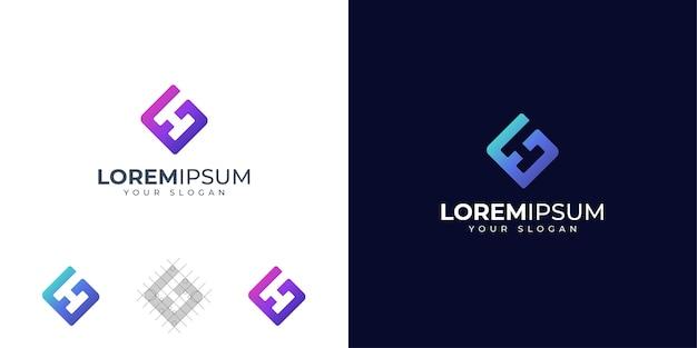 Inspiração para o design do logotipo das letras g e h do monograma