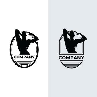 Inspiração para o design do logotipo de ginástica e condicionamento físico