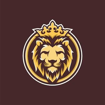 Inspiração para o design do logotipo de luxo golden royal lion king