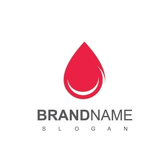 Inspiração para o design do logotipo de sangue