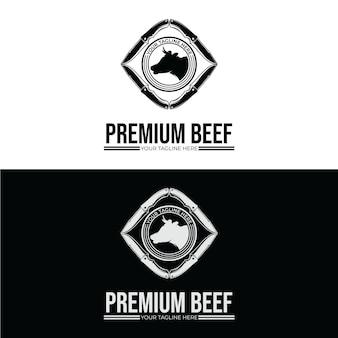 Inspiração para o design do logotipo do açougue