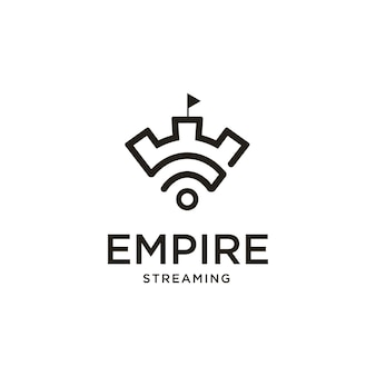 Inspiração para o design do logotipo do castle wifi streaming creative