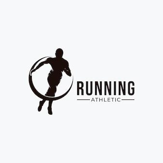 Inspiração para o design do logotipo do esporte em execução