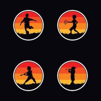 Inspiração para o design do logotipo do esporte infantil