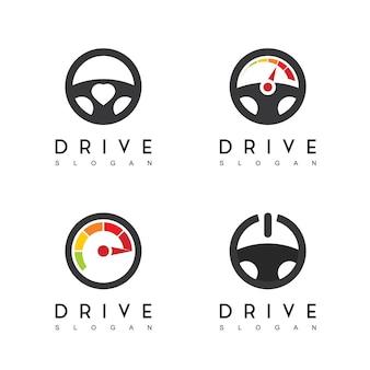 Inspiração para o design do logotipo do steering wheel drive