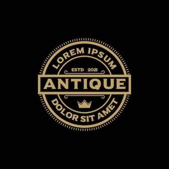 Inspiração para o design do logotipo do vintage luxury stamp