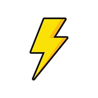 Inspiração para o design do logotipo do voltage electric bolt storm flash