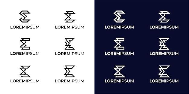 Inspiração para o design do logotipo monogram sigma