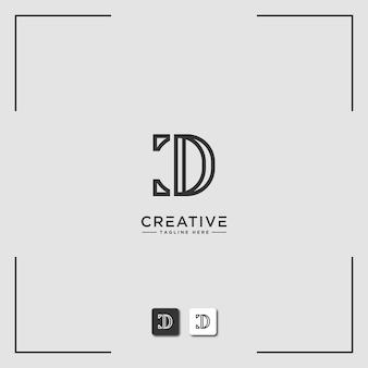 Inspiração para o design do logotipo para empresas a partir das letras iniciais do ícone do logotipo d