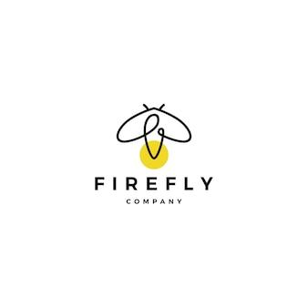 Inspirações de design do firefly logotipo vector ícone ilustração