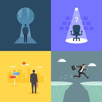 Inspirações de negócios e ilustração da imaginação