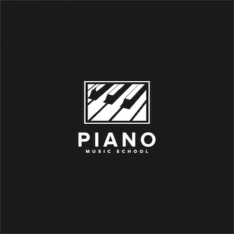 Inspirações do logotipo da música de piano scholl