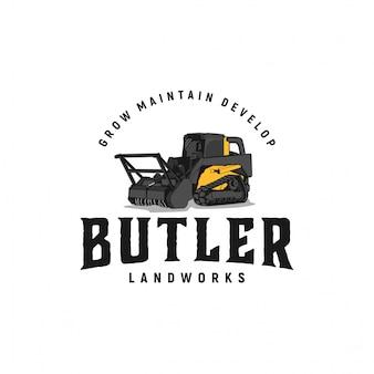 Inspirações do logotipo do vintage das obras de terra