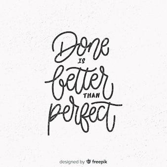 Inspiradora citação com letras de mão desenhada