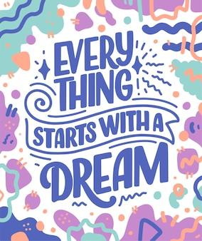 Inspiradora citação sobre sonho.