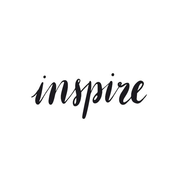 Inspirar o vetor de estilo de tipografia de palavra