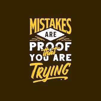 Inspirational typography quotes ilustrações