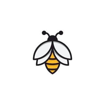 Inspire as abelhas com um estilo de linha simples