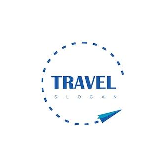 Inspration de design de logotipo de viagem de avião de papel