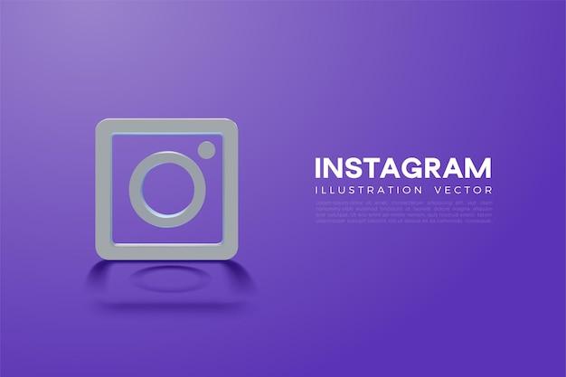 Instagram 3d e ícones do instagram Vetor Premium