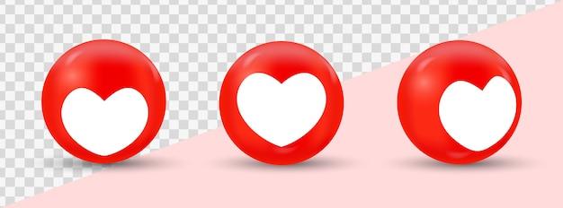 Instagram como ícones de estilo moderno de mídia social ícones de amor
