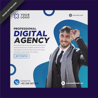 Instagram de agência de marketing digital e modelo de mídia social