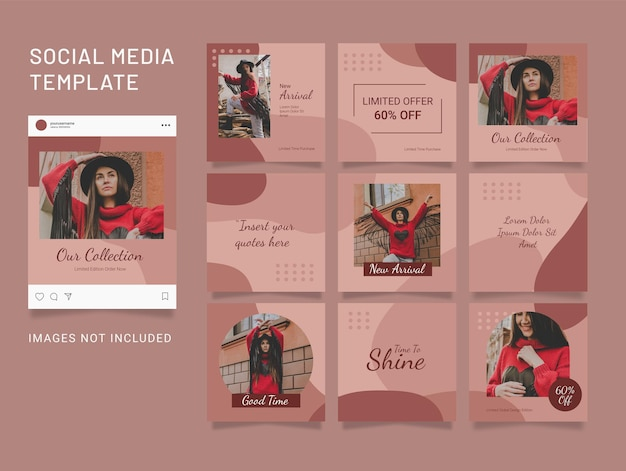 Instagram fashion women template post puzzle