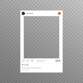 Instagram photo frame inspirado para compartilhamento de internet de amigos