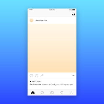 Instagram post template maquete