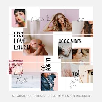 Instagram sobreposto conjunto de modelos de mensagens