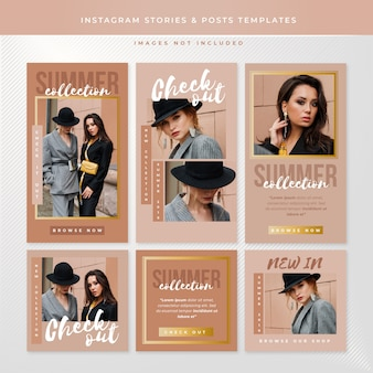 Instagram stories and posts templates