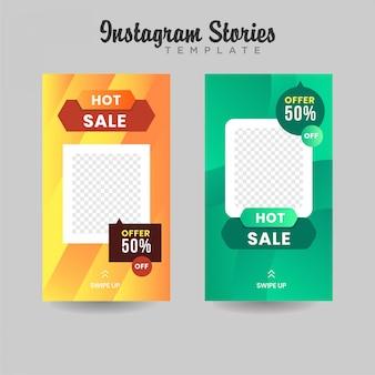Instagram stories template venda banner premium