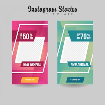 Instagram stories template venda banner premium