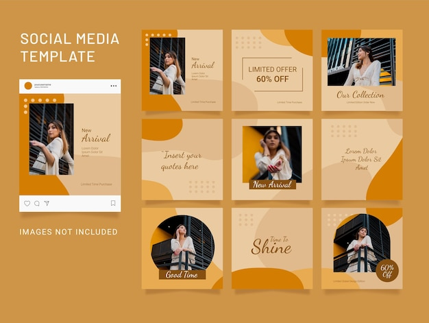 Instagram template fashion women post puzzle