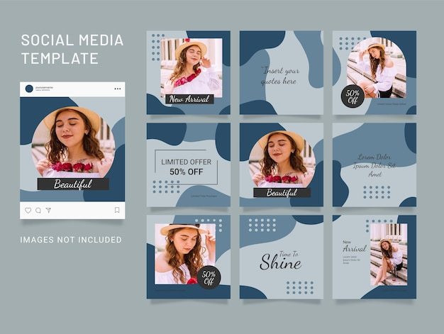 Instagram template feed fashion puzzle