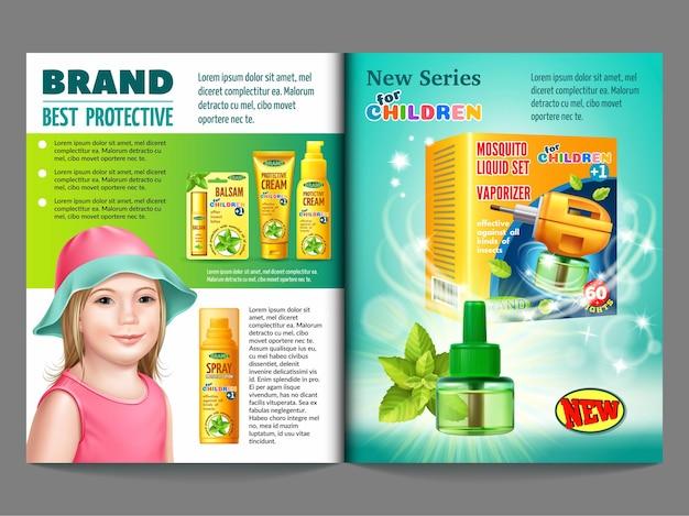 Instalações de proteção contra insetos para crianças