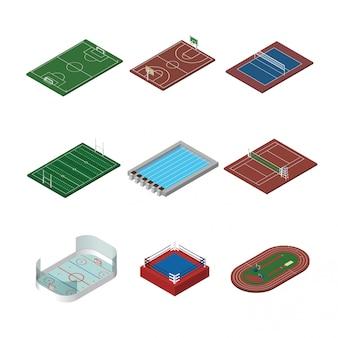 Instalações esportivas isométricas