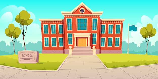 Instituição educacional de edifício escolar, faculdade