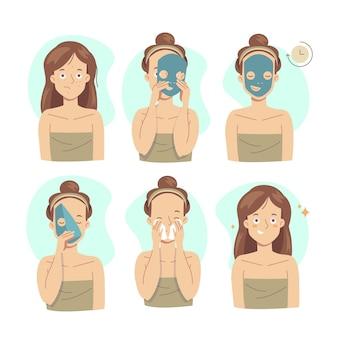 Instruções da máscara de folha