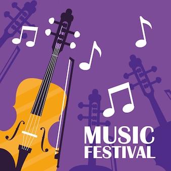 Instrumento clássico de violino