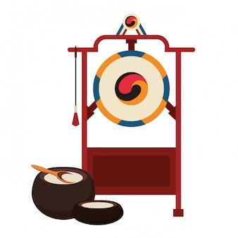 Instrumento de gongo asiático