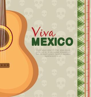 Instrumento de guitarra tradicional para comemorar o evento