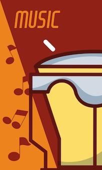 Instrumento de música clássica timbal