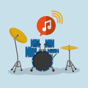 Instrumento de som de música de tambor