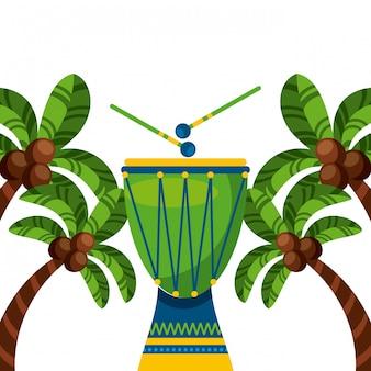 Instrumento de tambor do brasil