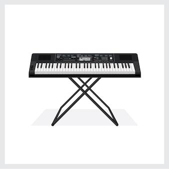 Instrumento de teclado de ilustração vetorial