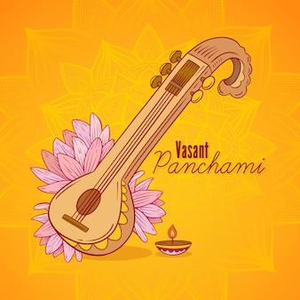 Instrumento do festival vasant panchami