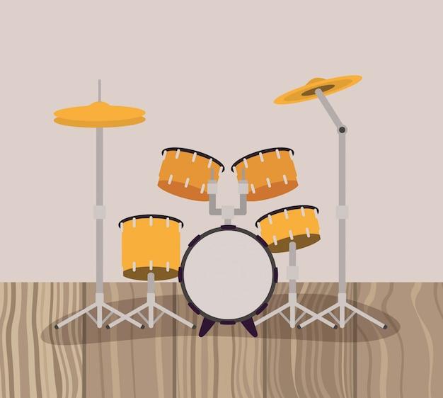 Instrumento musical bateria tambores