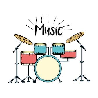 Instrumento musical de bateria para tocar música
